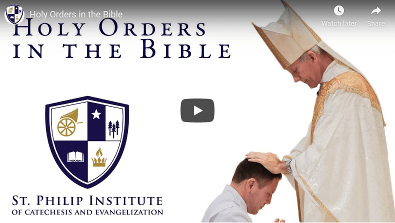 Holy Orders in the Bible