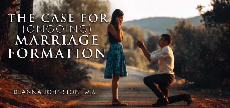 The Case for (OnGoing) Marriage Formation